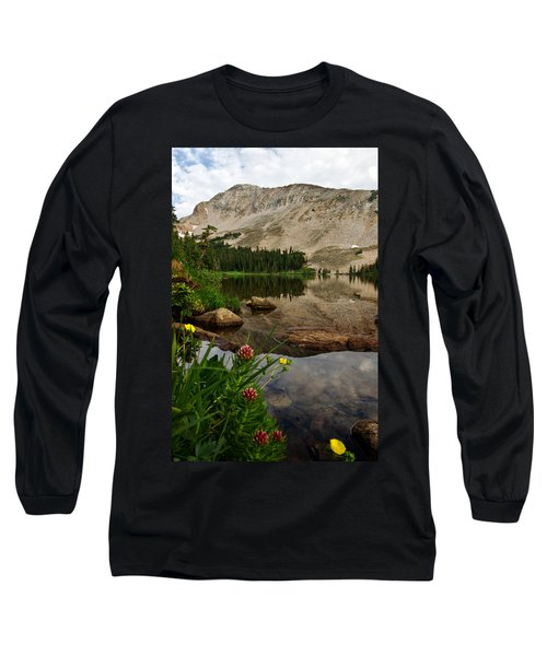 Mitchell Lake Reflections Long Sleeve T-Shirt by Ronda Kimbrow