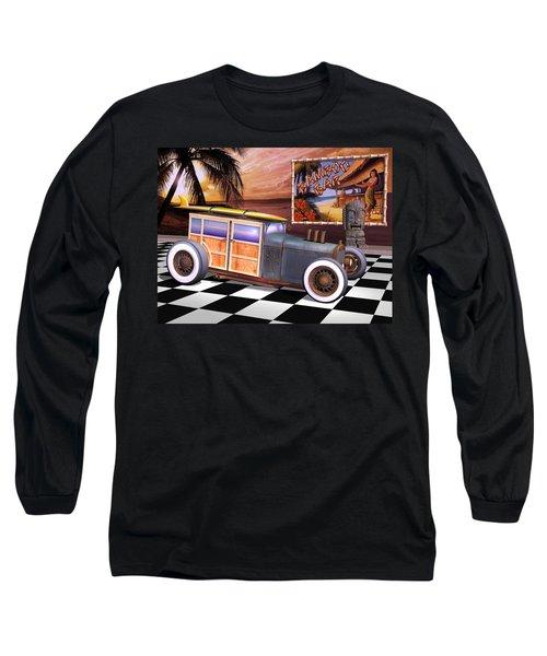 Model T Surf Woody Long Sleeve T-Shirt by Stuart Swartz