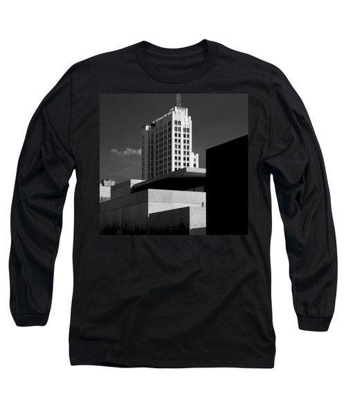 Modern Art Deco Architecture Black White Long Sleeve T-Shirt