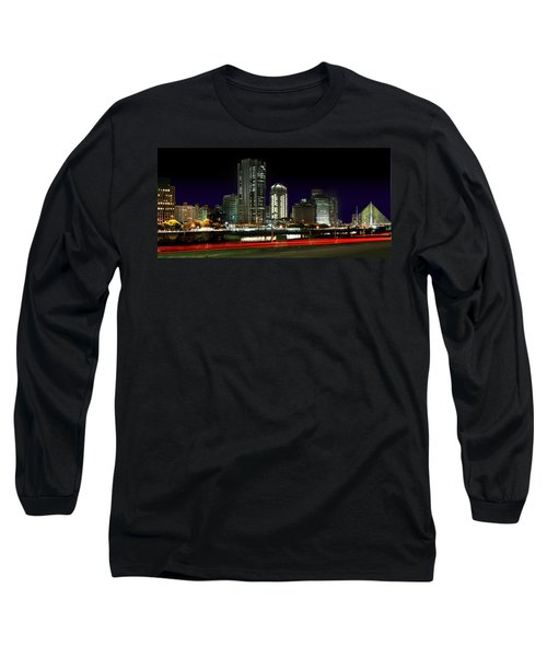 Modern Sao Paulo Skyline Near Brooklin District And Stayed Bridge Long Sleeve T-Shirt