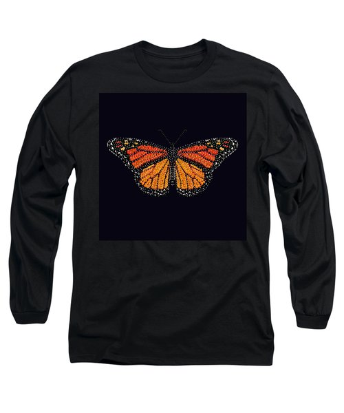 Monarch Butterfly Bedazzled Long Sleeve T-Shirt