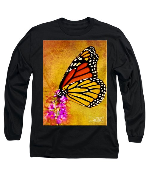 Monarch Butterfly Color Splash Sunset Long Sleeve T-Shirt