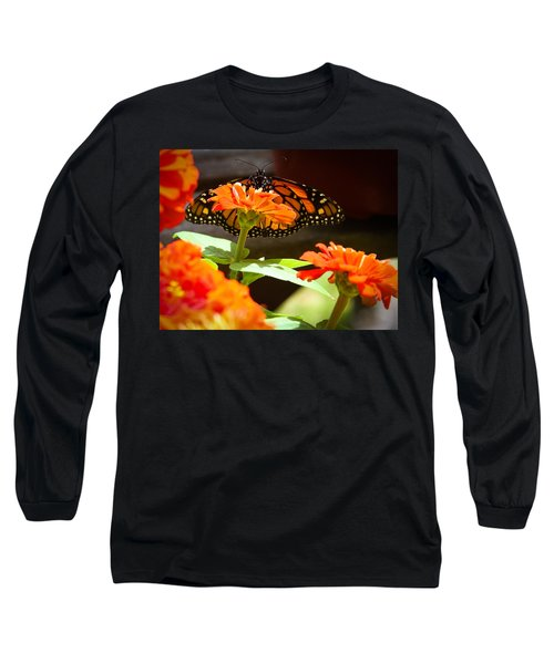 Long Sleeve T-Shirt featuring the photograph Monarch Butterfly II by Patrice Zinck