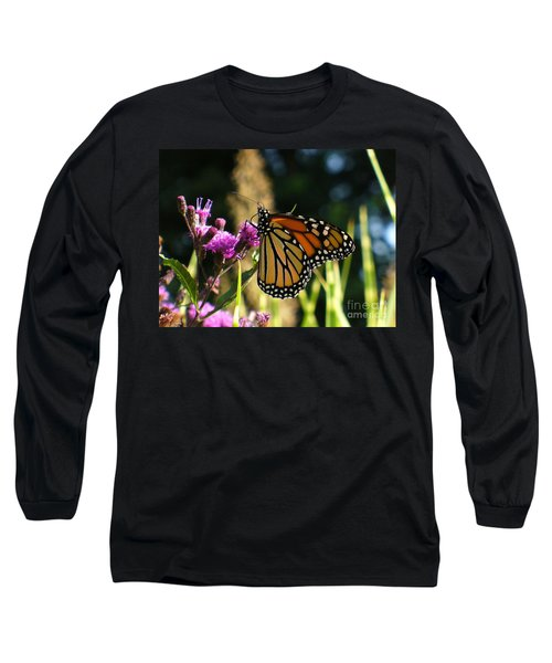 Long Sleeve T-Shirt featuring the photograph Monarch Butterfly by Lingfai Leung