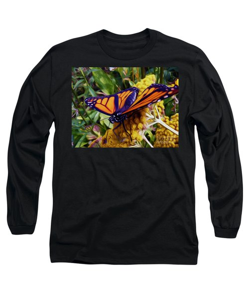 Monarch On Yarrow Long Sleeve T-Shirt