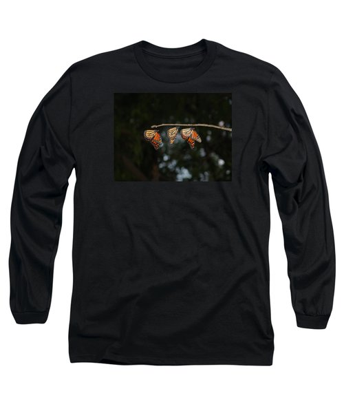 Monarch Trio Long Sleeve T-Shirt by Shelly Gunderson
