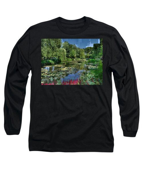 Monet's Lily Pond At Giverny Long Sleeve T-Shirt