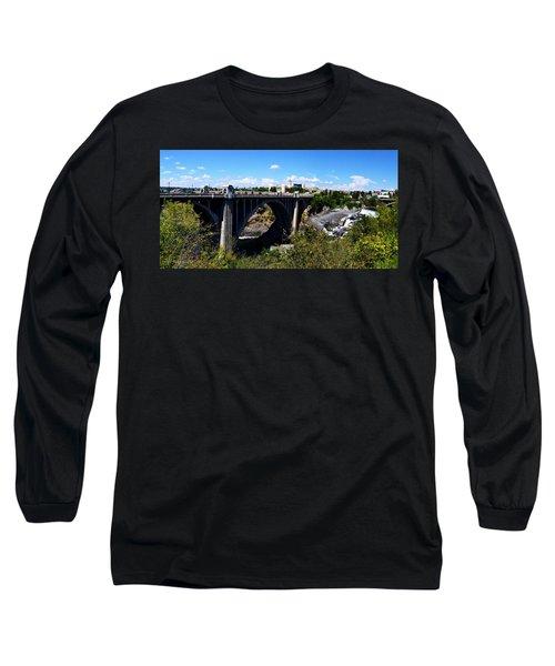 Monroe Street Bridge - Spokane Long Sleeve T-Shirt