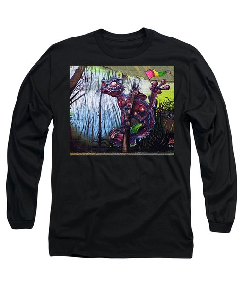 Monster With Flag Long Sleeve T-Shirt