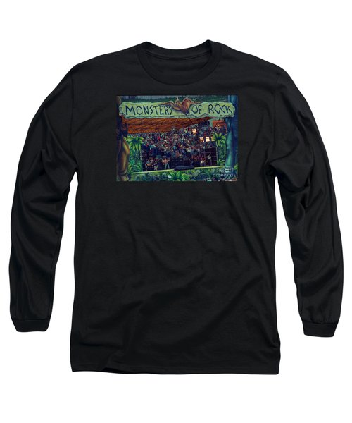 Monsters Of Rock Stage While A C D C Started Their Set - July 1979 Long Sleeve T-Shirt