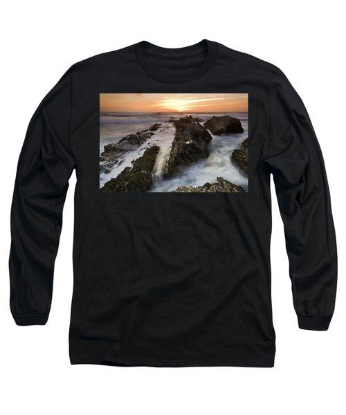 Montana De Oro Sunset 1 Long Sleeve T-Shirt