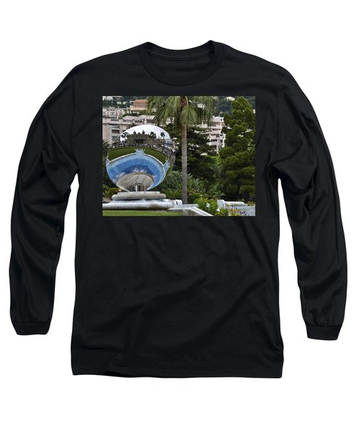 Long Sleeve T-Shirt featuring the photograph Monte Carlo Casino In Reflection by Allen Sheffield