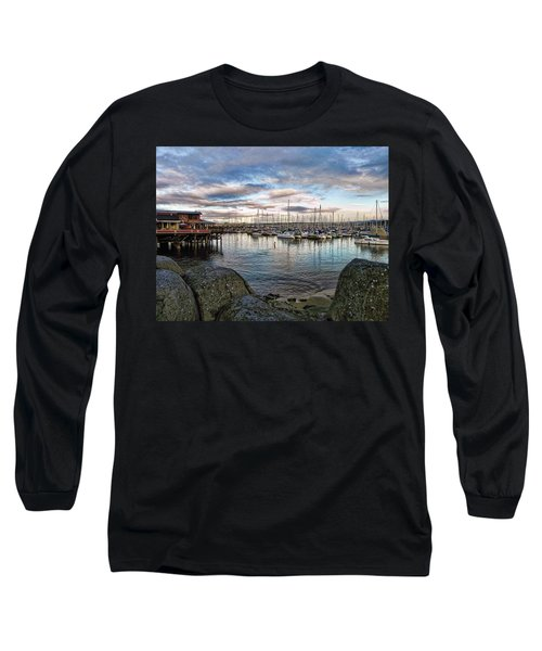 Long Sleeve T-Shirt featuring the photograph Monterey Marina California by Kathy Churchman