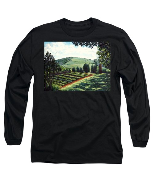 Monticello Vegetable Garden Long Sleeve T-Shirt by Penny Birch-Williams
