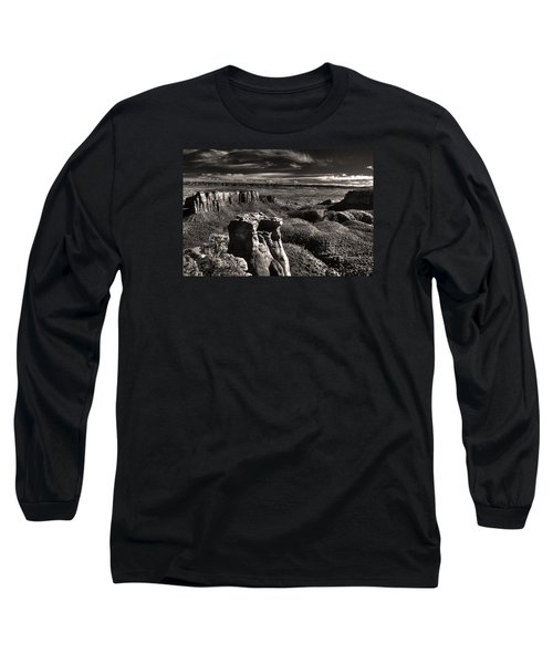 Long Sleeve T-Shirt featuring the digital art Monument Canyon Monolith by William Fields