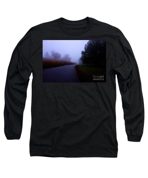 Moody Autumn Pathway Long Sleeve T-Shirt