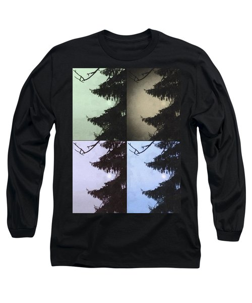 Moon And Tree Long Sleeve T-Shirt by Photographic Arts And Design Studio