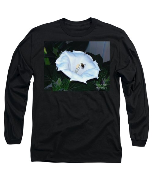 Long Sleeve T-Shirt featuring the photograph Moon Flower by Thomas Woolworth