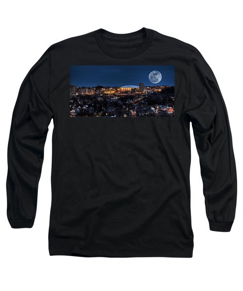 Moon Over The Carrier Dome Long Sleeve T-Shirt by Everet Regal