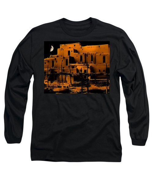 Moon Rise At The Pueblo Long Sleeve T-Shirt