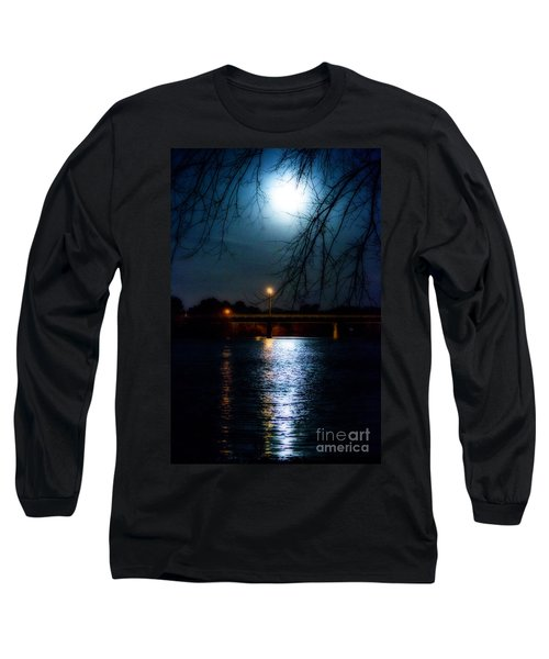 Moon Set Lake Pleasurehouse Long Sleeve T-Shirt