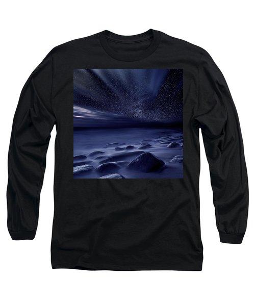 Moonlight Long Sleeve T-Shirt by Jorge Maia