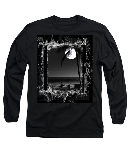 Moonlight Surf Long Sleeve T-Shirt by Athala Carole Bruckner