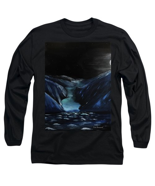 Moonlit Glacier Long Sleeve T-Shirt