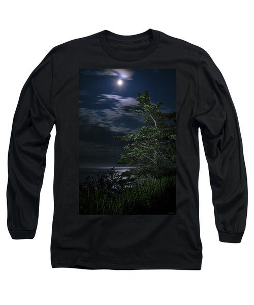 Moonlit Treescape Long Sleeve T-Shirt