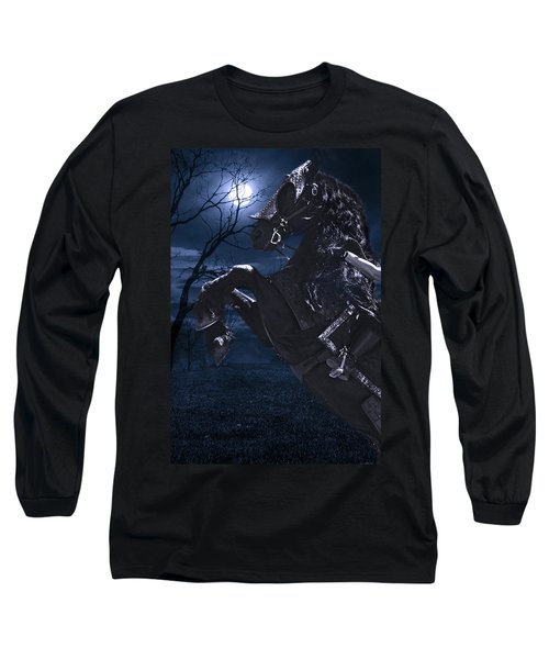 Moonlit Warrior Long Sleeve T-Shirt by Wes and Dotty Weber