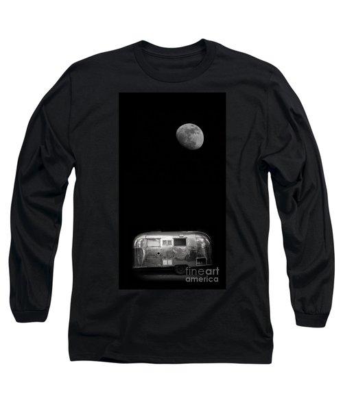 Moonrise Over Airstream Long Sleeve T-Shirt