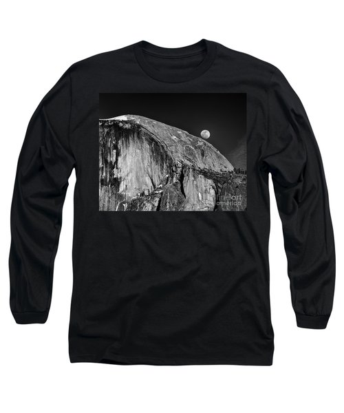 Moonrise Over Half Dome Long Sleeve T-Shirt
