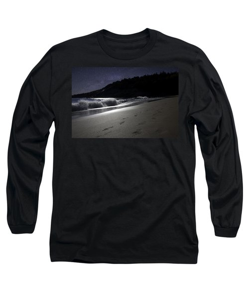Long Sleeve T-Shirt featuring the photograph Moonshine Beach by Brent L Ander