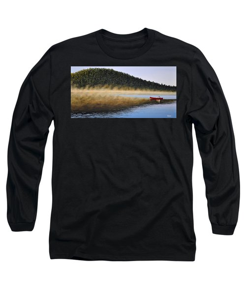Long Sleeve T-Shirt featuring the painting Moose Lake Paddle by Kenneth M  Kirsch