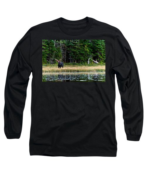 Moose Long Sleeve T-Shirt by Ulrich Schade