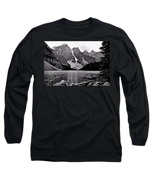 Moraine Lake Long Sleeve T-Shirt by Linda Bianic