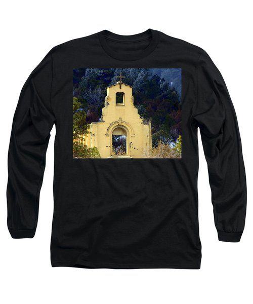 Long Sleeve T-Shirt featuring the photograph Mountain Mission Church by Barbara Chichester