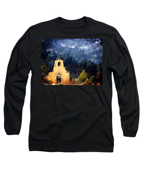 Long Sleeve T-Shirt featuring the photograph Morley Mission 1917 Colorado by Barbara Chichester