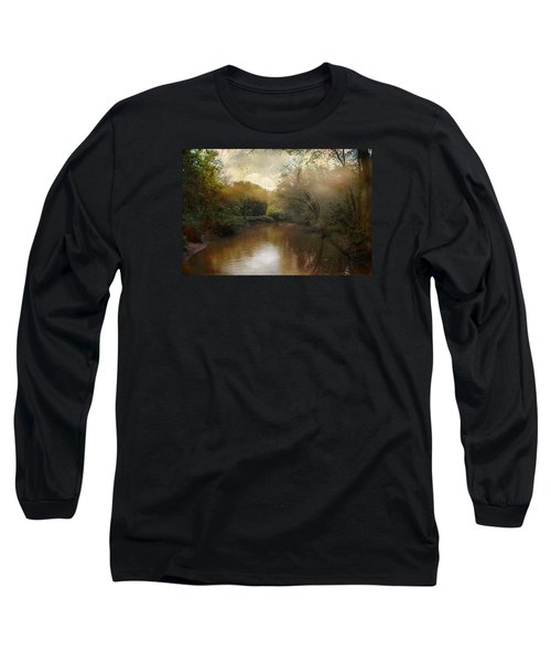 Long Sleeve T-Shirt featuring the photograph Morning At The River by John Rivera