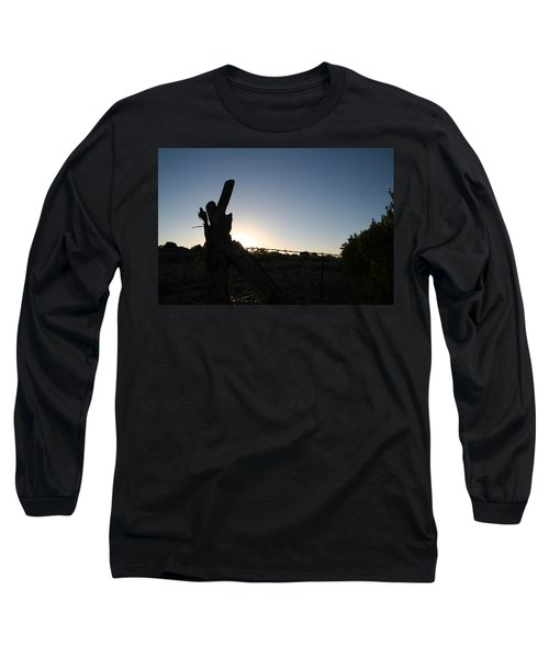 Long Sleeve T-Shirt featuring the pyrography Morning by David S Reynolds