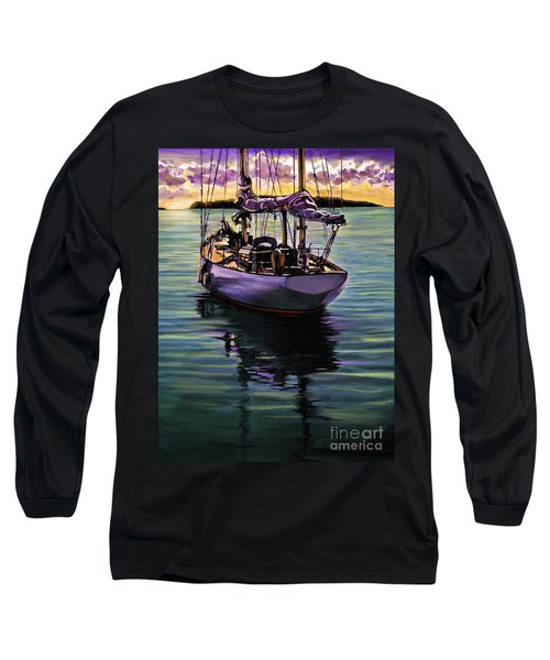 Long Sleeve T-Shirt featuring the painting Morning Has Broken by David  Van Hulst