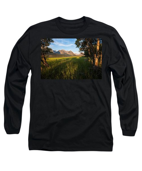 Long Sleeve T-Shirt featuring the photograph Morning In The Mountains by Jack Bell