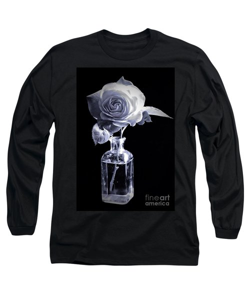 Morning Rose Cyan Long Sleeve T-Shirt