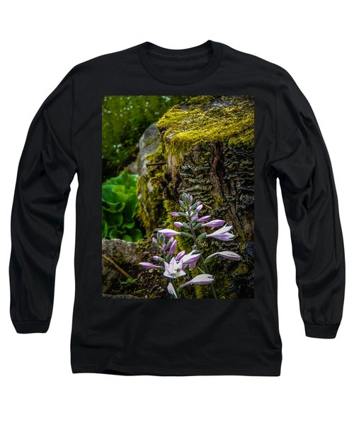 Moss And Flowers In Markree Castle Gardens Long Sleeve T-Shirt