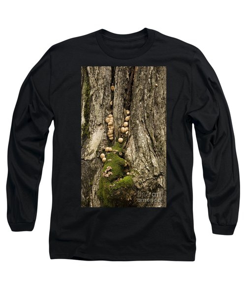 Long Sleeve T-Shirt featuring the photograph Moss-shrooms On A Tree by Carol Lynn Coronios