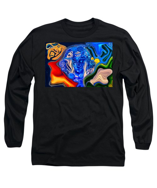 Long Sleeve T-Shirt featuring the painting Mother Earth by Omaste Witkowski