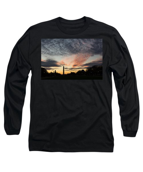 Mother Nature Painted The Sky Over Washington D C Spectacular Long Sleeve T-Shirt
