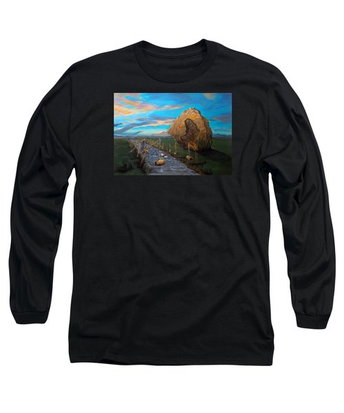 Long Sleeve T-Shirt featuring the painting Mother Of Anguishes  by Lazaro Hurtado