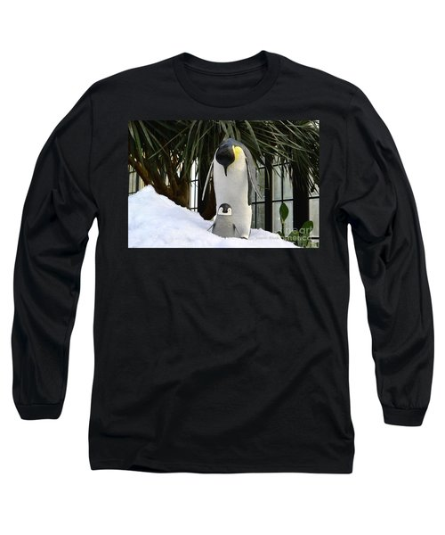 Mother Penguin And Baby Long Sleeve T-Shirt