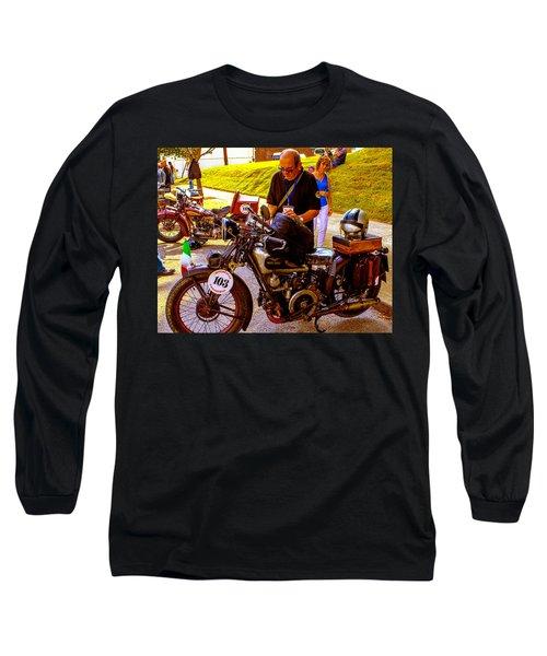 Moto Guzzi At Cannonball Motorcycle Long Sleeve T-Shirt